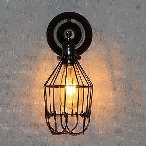 ZQ@QX Parete decorativa tradizionale semplice hotel café ristorante lampada da parete Applique in ferro battuto d