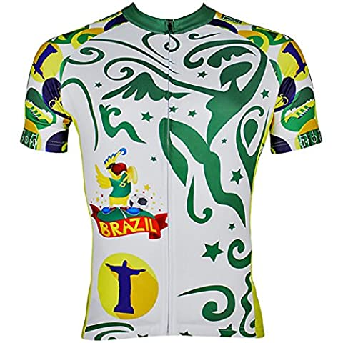 Men's Cycling Jersey Short Sleeve - World Cup Breathable Bike Gear Bike Jersey Multicolor X-Small