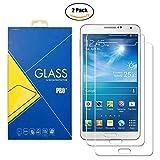 [2 Pack] Panzerglas Schutzfolie Samsung Galaxy Note 3 Neo SM-N7500 / N7505 / 7500 / 7505 - Gehärtetem Glas Schutzfolie Bildschirmschutzfolie für Samsung Galaxy Note 3 Neo SM-N7500 / N7505 / 7500 / 7505