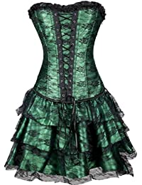 Amazon.co.uk: Green - Bustiers & Corsets / Lingerie