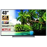 SMART TV 4K 43 Pollici Televisore Ultra HD Toshiba 43V6763DA HDR Cinema Serie Tv Dolby Wi-FI Wlan...