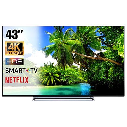 SMART TV 4K 43 Pollici Televisore Ultra HD Toshiba 43V6763DA HDR Cinema  Serie Tv Dolby Wi-FI Wlan Connettività Netflix You Tube