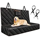 ATMOKO Dog Seat Cover Bench Style Dog Car Seat Covers with 2 Seat Belts&Storage Pockets, Fits to Middle Armrest Back Seat, Seat Protector from Scratch/Dirty, Nonslip Pet Seat Cover for Different Cars