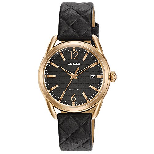 Citizen Watch Men's Analogue Solar Powered Leather Strap FE6083-13E