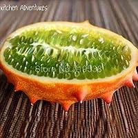 Shoopy Star 1 pieza de fuego ginseng fruta semilla Marte pepino fruta Ãfrica melón Cornudo impar difieren