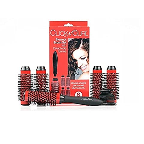 Click n Curl Blowout Brush Set with Detachable Barrels Full