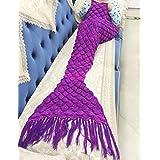 xuanlan Handmade Coda da sirena coperta per bambini e adulti (180,3x 88,9cm) Magic Purple