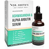 Dr. Sheth's Ashwagandha & 2% Alpha Arbutin Face Serum With 2.5% L-Arginine, Licorice Extracts, Vitamin C And 2% Kojic Acid Be