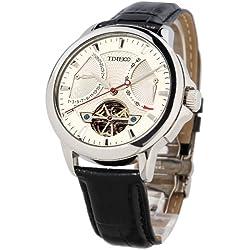 Time100 Men's Navigator-Series Tourbillon-Style Mechanical Self Wind Steel Watch #W70035G.01A