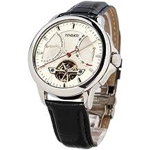 TIME100 W70035G, 01A Reloj de los hombres de Suiza de opciones Navigator-Series mecánico Tourbillon-estilo de color negro de la correa de reloj de pulsera
