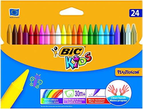 Niños Plastidecor Crayons Color Dureza larga duración afilable Vivid Surtido Ref. 829772 [Pack de 24]