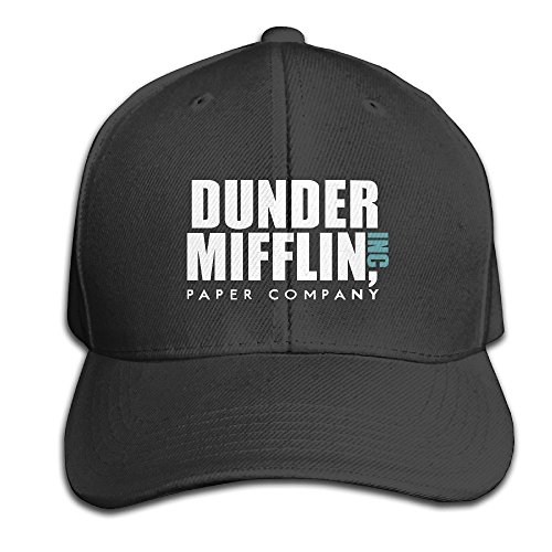 hittings-cotton-dunder-mifflin-inc-solid-cap-snapback-hats-baseball-caps-for-unisex-adult-black