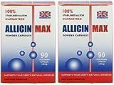 Allicin Max 90 pflanzliche Kapseln (2 Packungen -180 Kapseln)