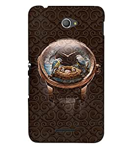 PrintVisa Cool Boy Watch 3D Hard Polycarbonate Designer Back Case Cover for Sony Xperia E4 Dual