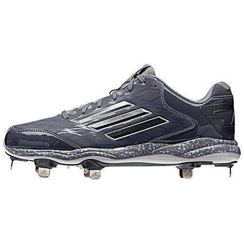 Adidas Performance Poweralley 2 Baseball Klampe, Schwarz / Kohlenstoff / Kohlenstoff, 6,5 M Us Blau