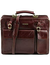 Tuscany Leather - Serviette cuir- Marron - Homme