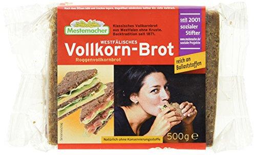 Mestemacher Vollkornbrot,Westfälisch, 6er Pack (6 x 500 g Packung)