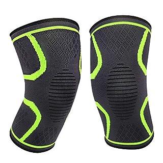 APOGO 2 x Kniebandage, Knieschoner, Kniestütze für Meniskusriss, Arthritis, Gelenkkrankheiten, Laufen, Wandern, Joggen, Sport, Volleyball