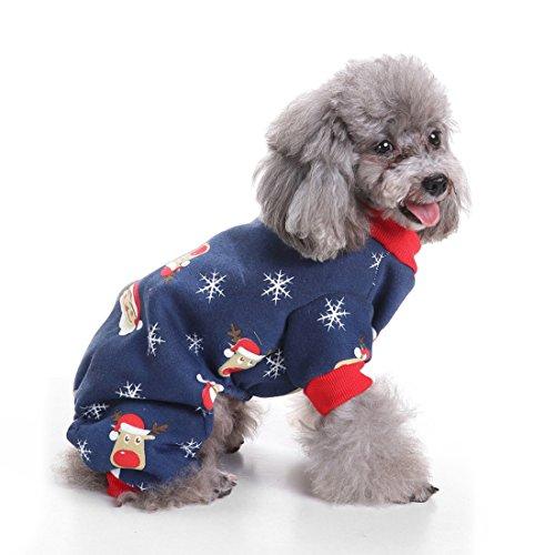 aisuper Hunde Welpen Katzen Pets Halloween Weihnachten Party Festival Kostüme Funny Cute Warm Herbst Winter Kleidung für kleine medium large Big Dog Jacke Coat Apparel (Kostüme Papst Hund Halloween)