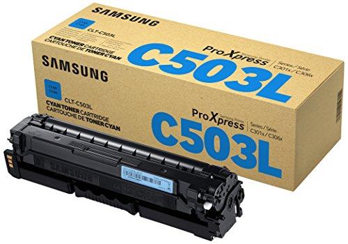 Preisvergleich Produktbild Samsung CLT-C503L/ELS Original Toner Cyan - Kompatibel mit: SL-C3010ND | C3060FR