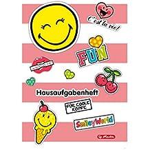 Herlitz 50001699 Hausaufgabenheft Smiley World Girly, A5
