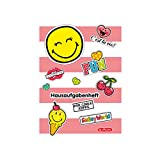 Herlitz 50001699 Hausaufgabenheft Smiley World Girly, A5