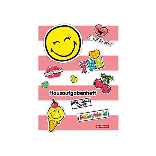 Herlitz Hausaufgabenheft Smiley World Girly, A5