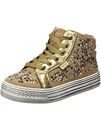 Xti Botin Niña Antelina Combinada Bronce ., Sneakers basses fille