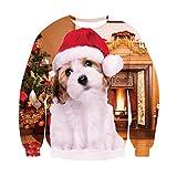 Bfustyle Mens Merry Fucking Weihnachten hässlichen Weihnachtshund Pullover Sweatshirt
