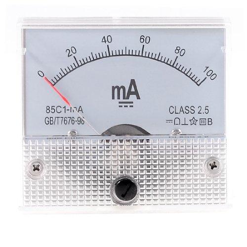 Klasse 2,5Genauigkeit DC 0-100mA Analog Current Meter Amperemeter 85C1-ma -