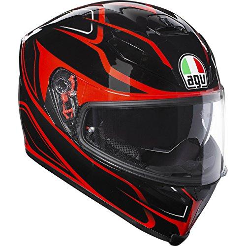 AGV K5-S Magnitude Negro/Rojo Motocicleta Casco