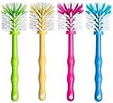 Deine Bürste 4er Set Mixtopf Reinigungsbürste zum Reinigen von z.B. Thermomix ® TM5, TM31, TM21 und Bimby TM 5 ®, Zubehör Spülbürste je (1x Grün/ 1x Gelb/ 1x Pink/ 1x Blau)