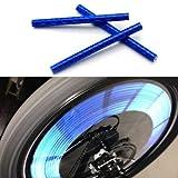 Switchali 12pcs New Bicycle Wheel Spoke Reflector Reflective Strip Clip Tube (Blue)