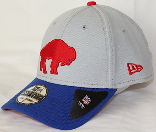 Buffalo Bills New Era NFL 39THIRTY Throwback Logo Gray Neo Flex Fit Hat