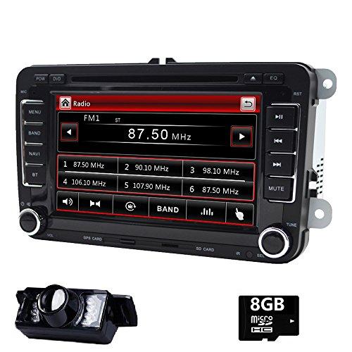 17,8cm double DIN in dash stereo per VW Volkswagen Golf Passat Polo Tiguan Jetta EOS Touran Scirocco Skoda Seat con lettore DVD GPS Navigation USB SD FM AM RDS radio Bluetooth