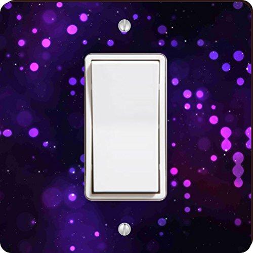 Rikki Knight Platz Leuchten Single Rocker Switch Plate, Violett