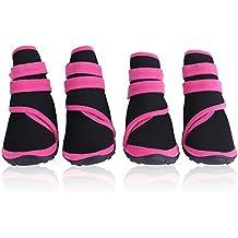 Filfeel Botas de perro 4Pcs, impermeables protectores de pata Zapatos de mascota perrito de invierno