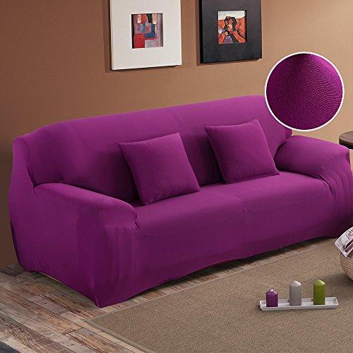 Unbekannt New_Soul - Sofabezug Sofaüberwurf Elastisch Sofahussen (Lila, 2-Sitzer)