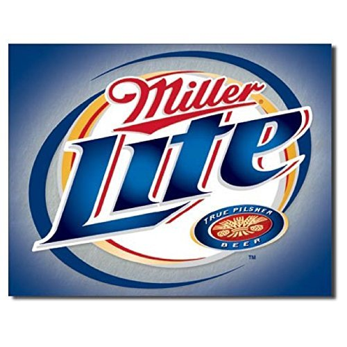 miller-lite-brushed-metal-liquor-tobaccotin-sign-16w-x-125h-by-the-vintage-sign-store