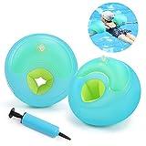 Schwimmflügel,Waitiee Floating Schwimmhilfe,Schwimmscheiben,Kinder Schwimmhilfe Armbinden Schwimmer Discs Schaum Schwimmen Armbands-Blau (XL)