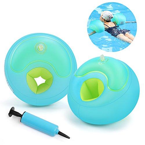 Braccioli Bambini,Waitiee Aiuto Alla Galleggiabilita Da Nuoto Per Bambini,Braccioli Nuoto Per Bambini Soft-Blu (L)