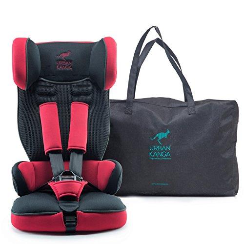 Urban Kanga Kindersitz / Autositz Reise Tragbar und Faltbarer Gruppe 1, 9–18 kg (Chili-Pfeffer Rot)