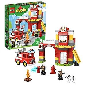 LEGO Duplo Caserma dei Pompieri con Luci e Sirena, Idea Regalo per Bambini dai 2 Anni per Diventare un Piccolo Eroe ed… 5702016367676 LEGO