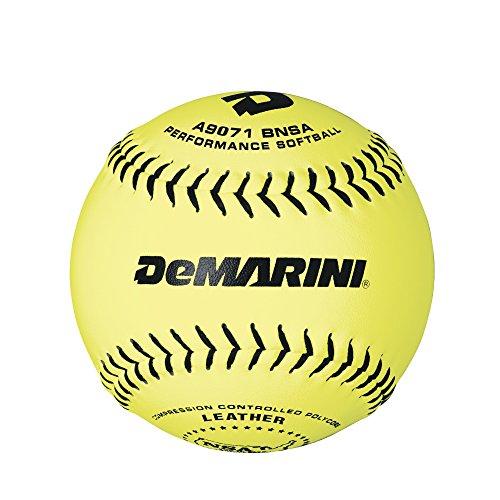 DeMarini 30,5cm NSA Slowpitch Leder Softball .52/275, 12Stück (Demarini Fastpitch Softball)