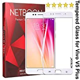 NETBOON® [Updated Design] Tempered Glass Ultra Clear Easy To Install Bubble Free Screen Protector for Vivo V5 Plus - White