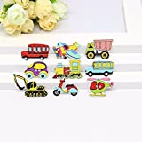 """#7: JO's 20pcs """"TRANSPORTATION WOODEN BUTTONS"""" (5mm - 25mm - Multicolor) Craft wooden Buttons with 2 Hole Scrap-booking, crafting, Card Making and School Projects etc… (Multicolor) SPECIAL EDITION"""
