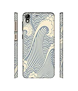 NattyCase Abstract Design 3D Printed Hard Back Case Cover for HTC Desire 728G