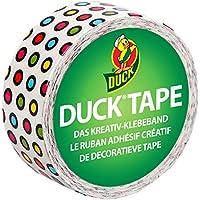 Ducktape 221732 Duckling Candy Dots Cinta Adhesiva de Tela, 19 mm x 4.5 m