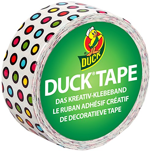 Duck Tape 221732 Gewebeband, 19 mm x 4,5 m, Duckling Candy Dots