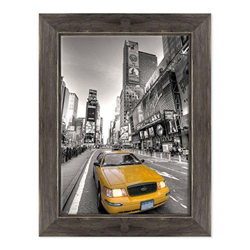 Bild auf Leinwand Canvas-Gerahmt-fertig zum Aufhängen-New York Times Square-NY City USA Amerika-Taxi gelb Dimensione: 50x70cm D - Colore Nero Shabby
